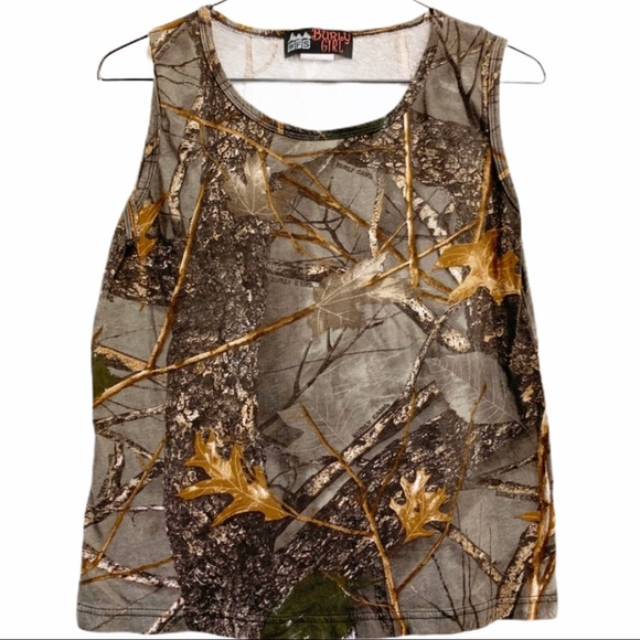 Bubly Girl Tops - Camo Crop Top Style Muscle Tee